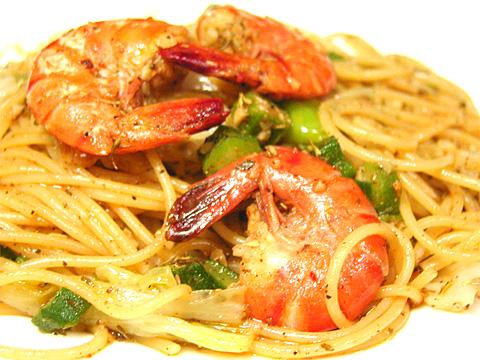 ケイジャン海の幸スパゲッティ